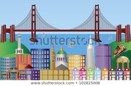 Bay Bridge and Ferry Terminal San Francisco California stock photo © billperry