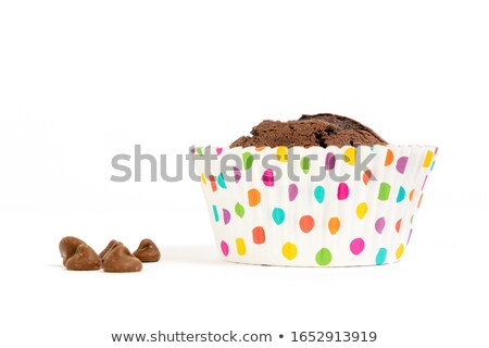 Two fresh baked muffins against a white background Stock photo © wavebreak_media