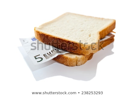 Sandwich euros manger affaires alimentaire pain Photo stock © tirrytich