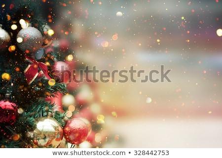 Christmas łuk czerwony płatki śniegu urodziny tle Zdjęcia stock © illustrart