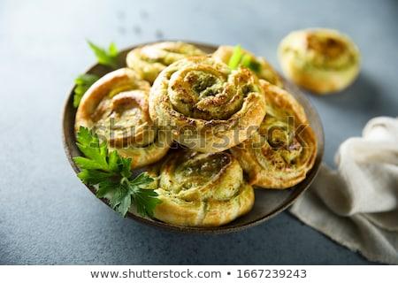 pesto sauce pinwheel stock photo © m-studio