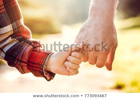 Fiú nagyapa mosoly gyerekek gyermek idős Stock fotó © Paha_L