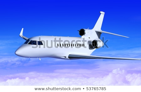 private white jet Stock photo © ssuaphoto