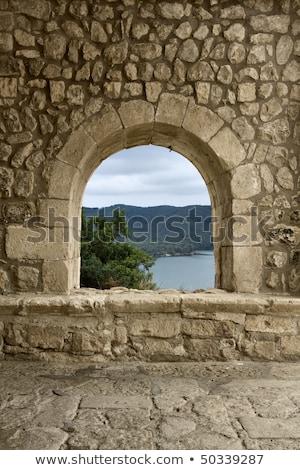 Kamieniarstwo Hiszpania starych kamień ściany Zdjęcia stock © lunamarina