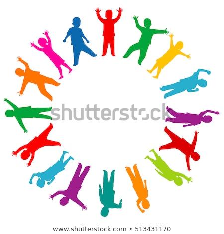 シルエット ダンス 女の子 周りに 世界 女性 ストックフォト © jelen80