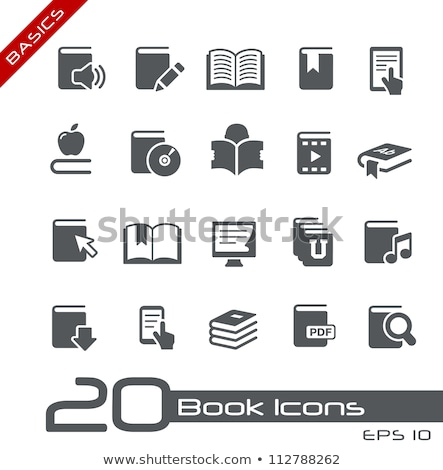 Vector icon cd and book Stock photo © zzve