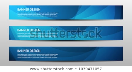 Azul banners establecer sedoso elegante seda Foto stock © Allegro