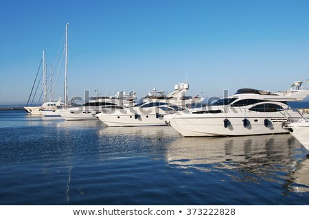 Port with many yachts on summer day Stock photo © Elnur