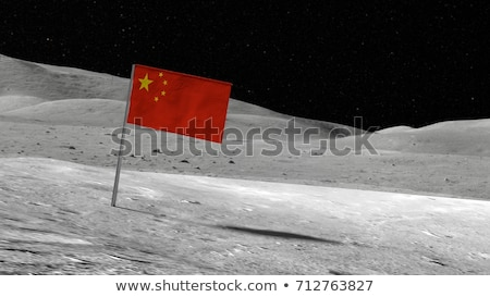 китайский флаг луна поверхность планете Земля Сток-фото © TaiChesco