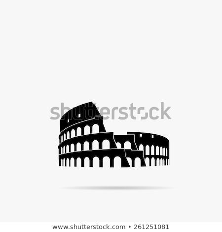 Рим икона печать туризма итальянский вектора Сток-фото © Myvector