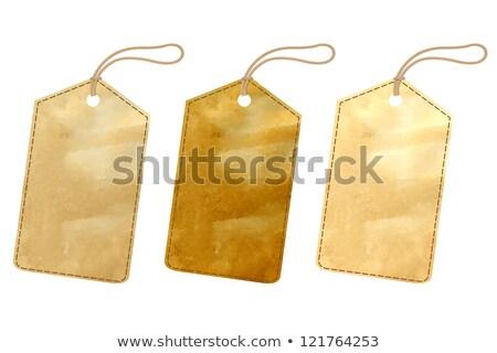Blank price or address tag Stock photo © Anterovium