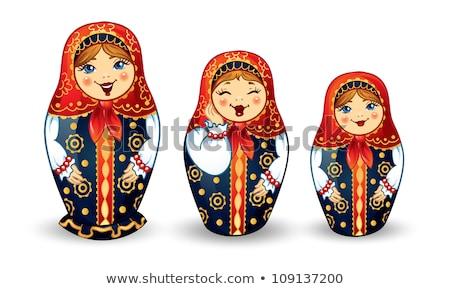 русский сувенир фон искусства матери девочек Сток-фото © serpla