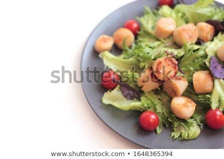 Zalm garnering voedsel achtergrond citroen kok Stockfoto © M-studio
