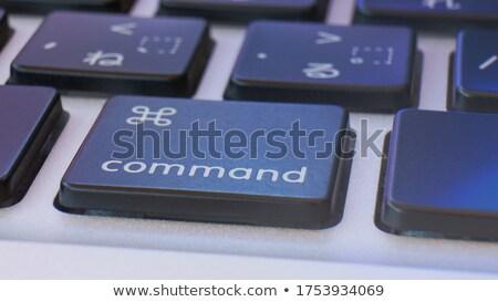 white keyboard with downsizing button stock photo © tashatuvango