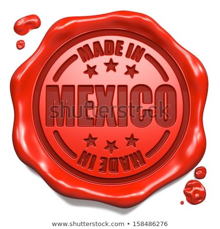 México carimbo vermelho cera selar isolado Foto stock © tashatuvango