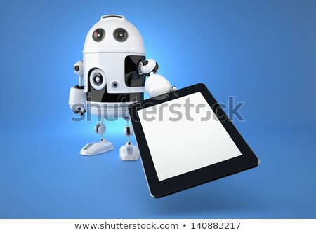 Android Roboter Touchpad blau 3D-Darstellung Business Stock foto © Kirill_M