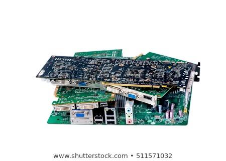 pile of cpu processors isolated on white background stock photo © pxhidalgo