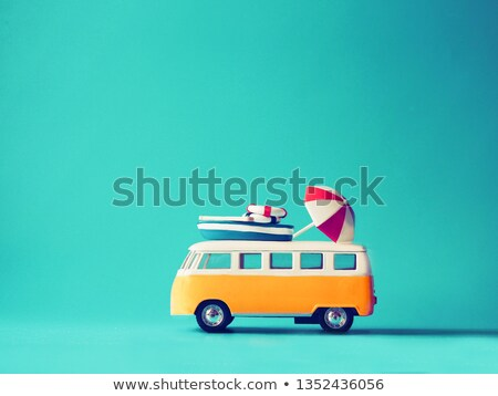 miniature travelling vintage van stock photo © kirill_m