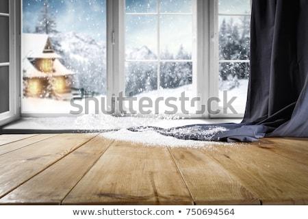 Winter Forest Deck Frame Stock photo © Lightsource