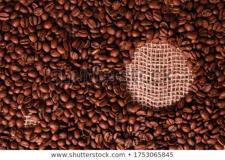 Hesian sacking with Coffee title Stock photo © stevanovicigor