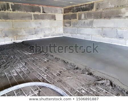 полу стороны работник конкретные строителя цемент Сток-фото © LianeM