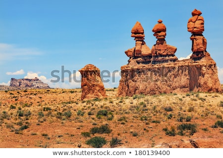 Three Sisters Hoodoos Goblin Valley State Park Rock Canyon Wild  Stock photo © billperry