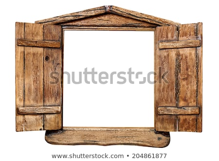 Venster oud hout geïsoleerd witte textuur Stockfoto © marylooo
