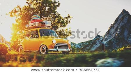 スーツケース · 画像 · スタック · 雲 · 平面 · スタイル - ストックフォト © gigra