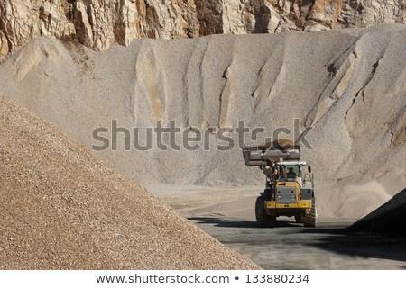 Bulldozer Working with Stone stock photo © fouroaks