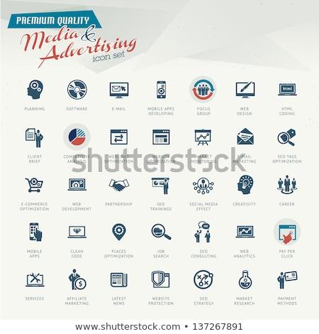 Marketing internetowy vintage projektu fioletowy technologii ramki Zdjęcia stock © tashatuvango