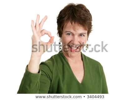 Dojrzały irlandzki kobieta w porządku dość Zdjęcia stock © lisafx