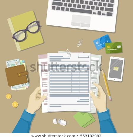кредитных карт проверить финансовых документы кредитные карты избирательный подход Сток-фото © ambientideas
