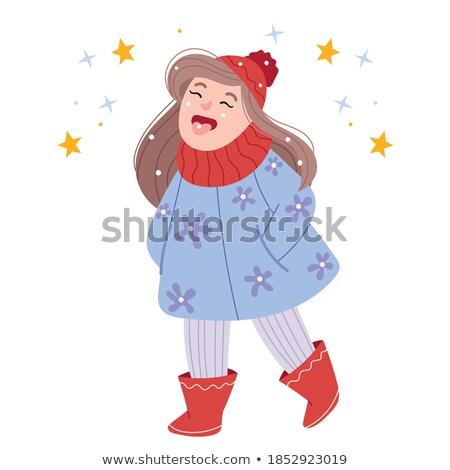 catching snowflakes stock photo © songbird