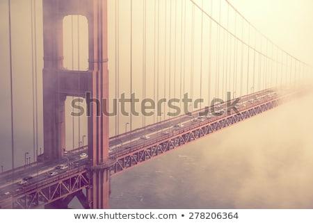 クローズアップ ゴールデンゲートブリッジ 1泊 市 サンフランシスコ 空 ストックフォト © aspenrock