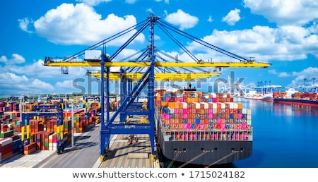 Cargo ship at port. Stock photo © Nejron