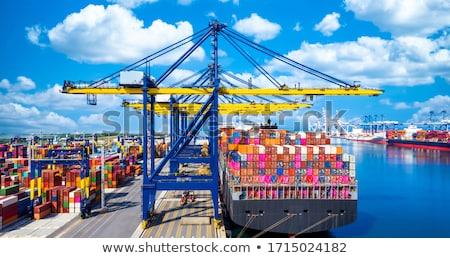 Сток-фото: Cargo Ship At Port