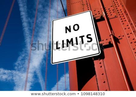 No limits message on the road Stock photo © stevanovicigor