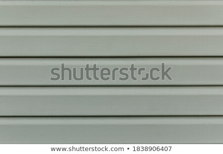 Stock photo: Gate in a plastic plank wall