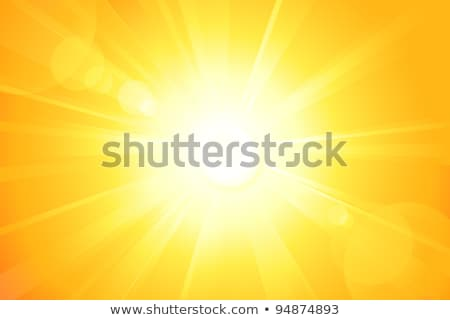 Golden Solar Burst Stockfoto © wenani
