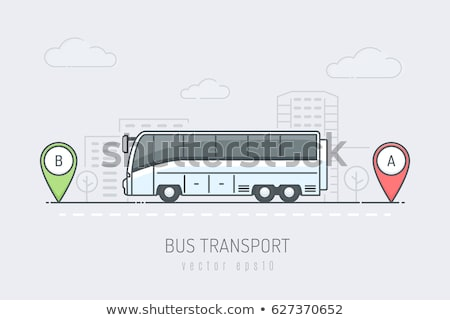 Cidade ônibus estrada carro modelo metal Foto stock © leonido