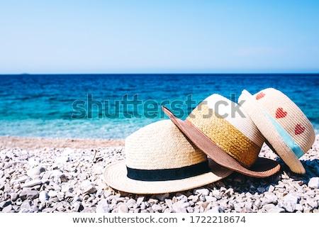 criança · mentiras · praia · bebê · cara - foto stock © d13