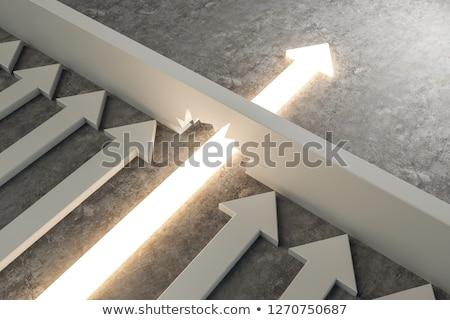 áttörés · 3D · generált · kép · nyíl · ötlet - stock fotó © flipfine