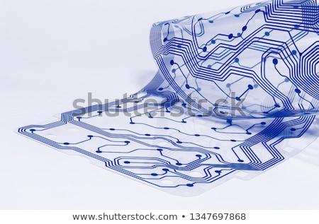 Afgedrukt circuit toetsenbord binnenkant ontwerp veiligheid Stockfoto © jarin13