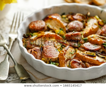 sausage cooked with apples Stock photo © M-studio