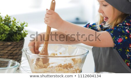 Mixte cuillère bol cuisine pain cuisson Photo stock © raphotos