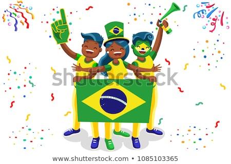 ブラジル · サッカー · スポーツ · デザイン · にログイン · グループ - ストックフォト © jelen80