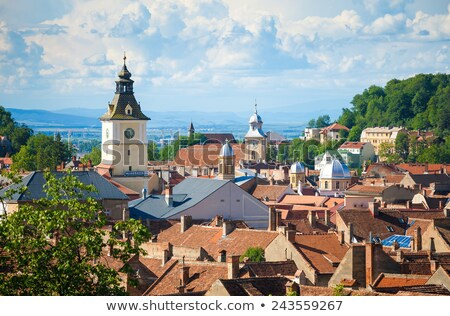 the council house clock tower in brasov romania stock photo © pixachi