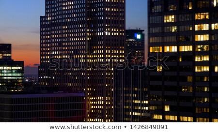 Stock photo: Dawn and skyscraper