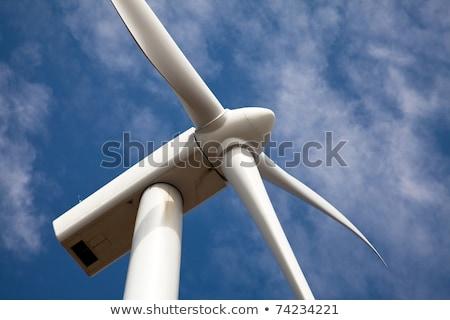 ветровой турбины облачный Blue Sky мнение Сток-фото © ssuaphoto