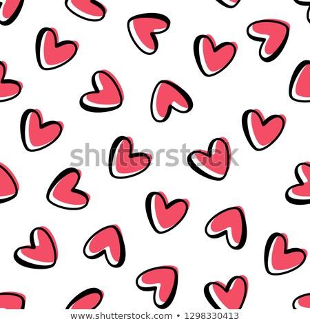 Kırmızı kalp dizayn kâğıt mutlu Stok fotoğraf © slunicko
